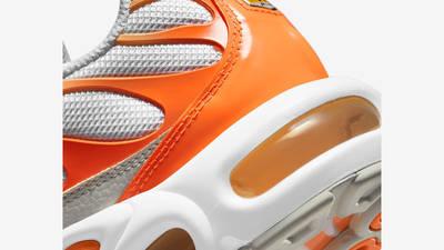 Nike TN Air Max Plus White Atomic Orange Closeup