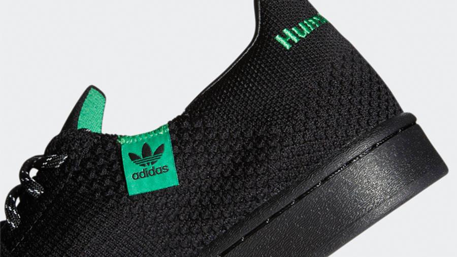 Pharrell x adidas Superstar Primeknit Core Black Closeup