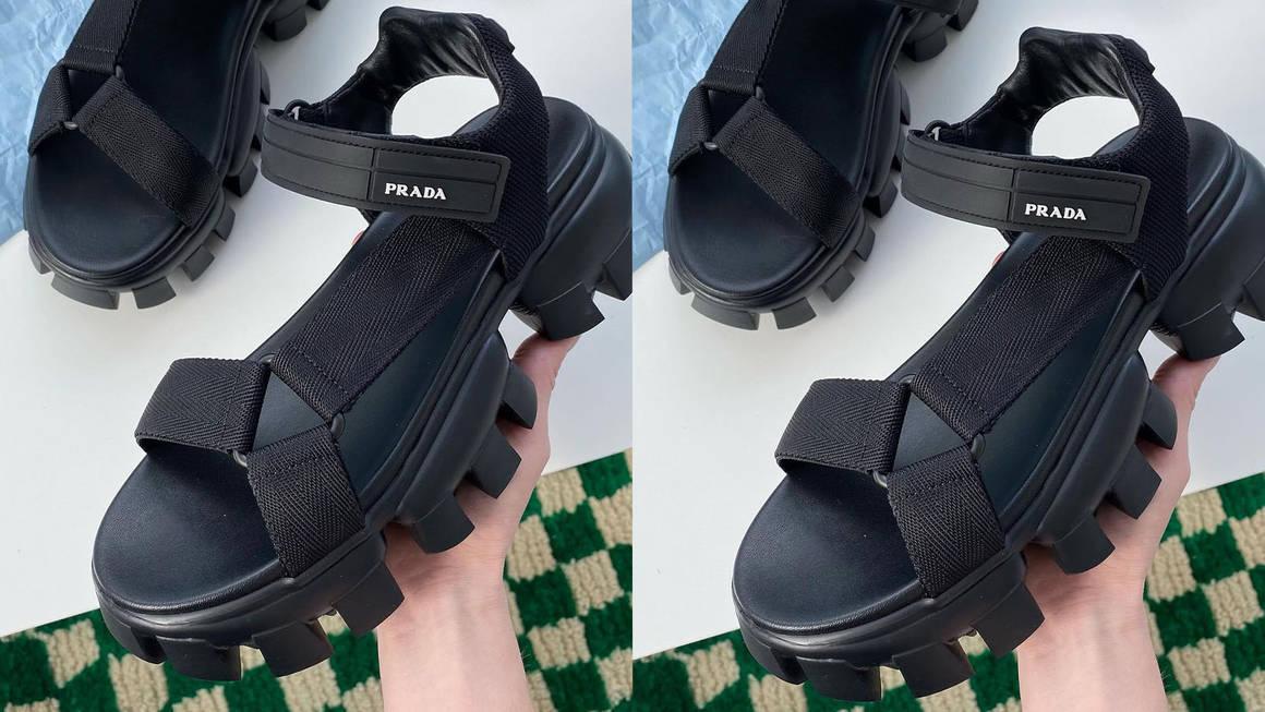 prada sandals feature