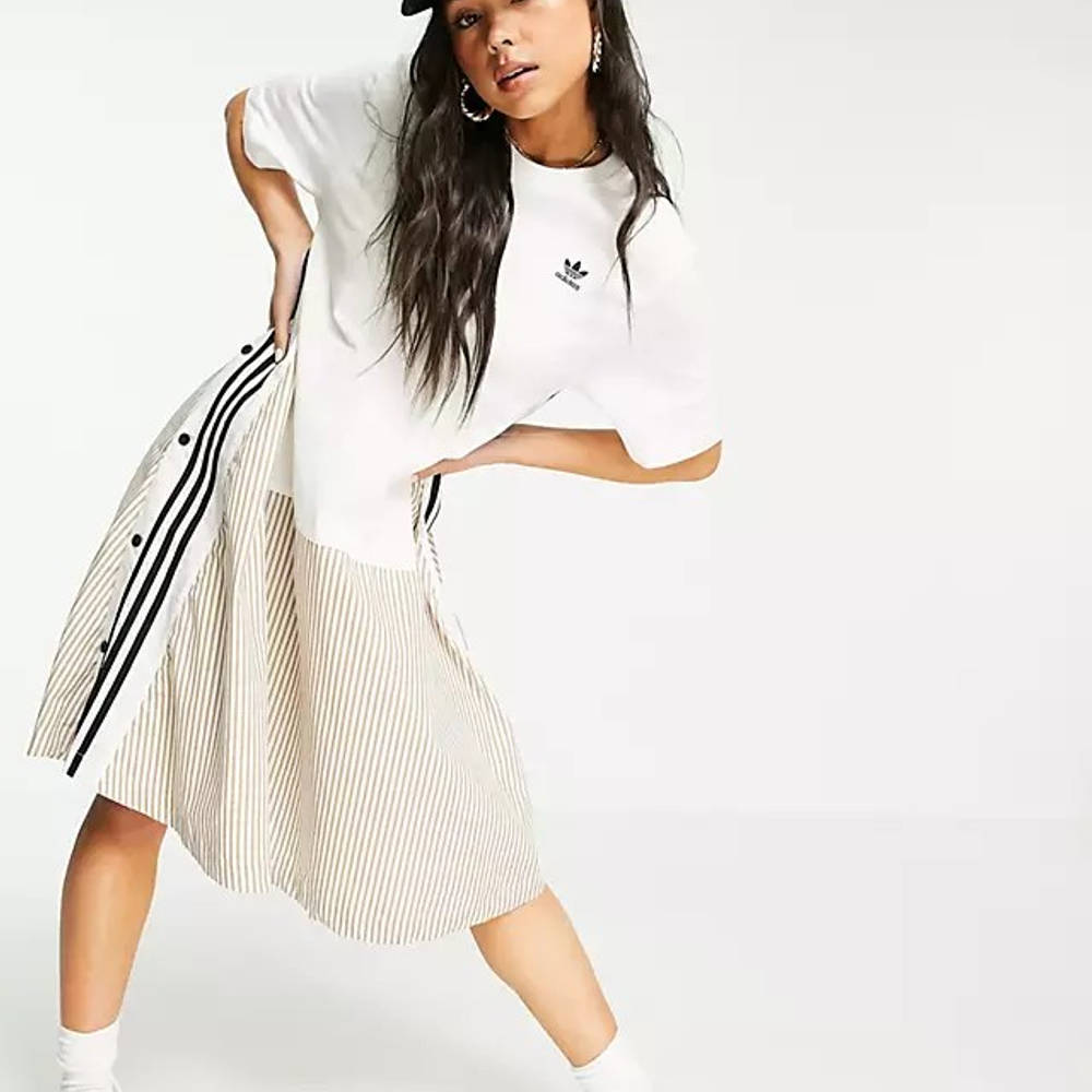 Dry Clean Only x adidas Originals Jersey T-Shirt Dress - White ...