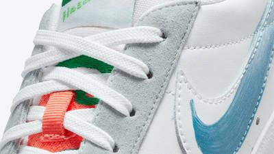 Mayumi Yamase x Nike Blazer Low Flyleather Closeup