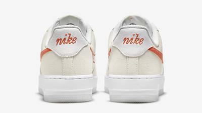 Nike Air Force 1 Low First Use White Orange DA8302-101 Back