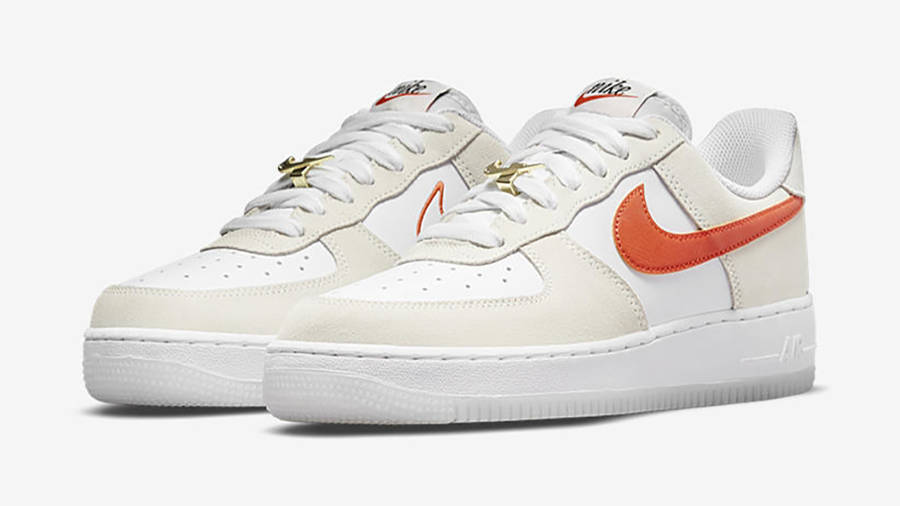 Nike Air Force 1 Low First Use White Orange DA8302-101 Side