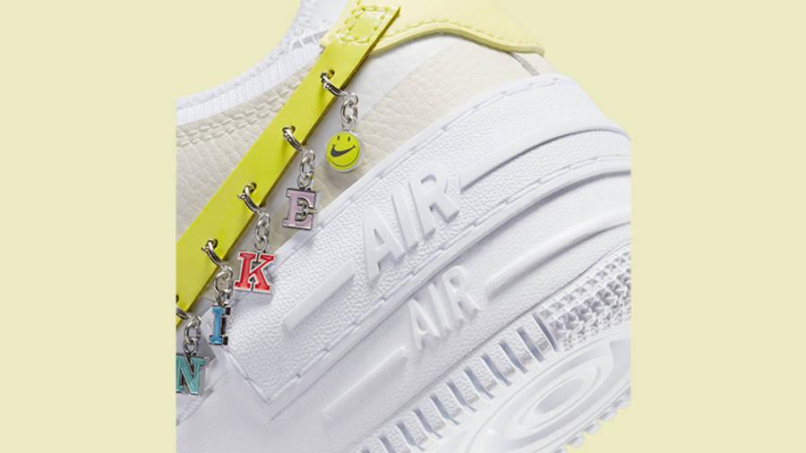 Nike Air Force 1 Shadow Yellow DJ5197-100 Back Detail