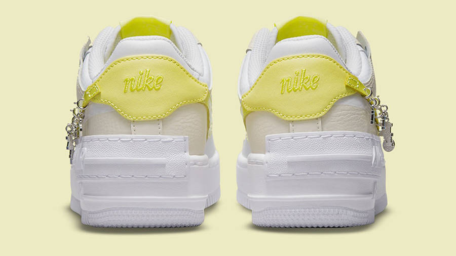 Nike Air Force 1 Shadow Yellow DJ5197-100 Back