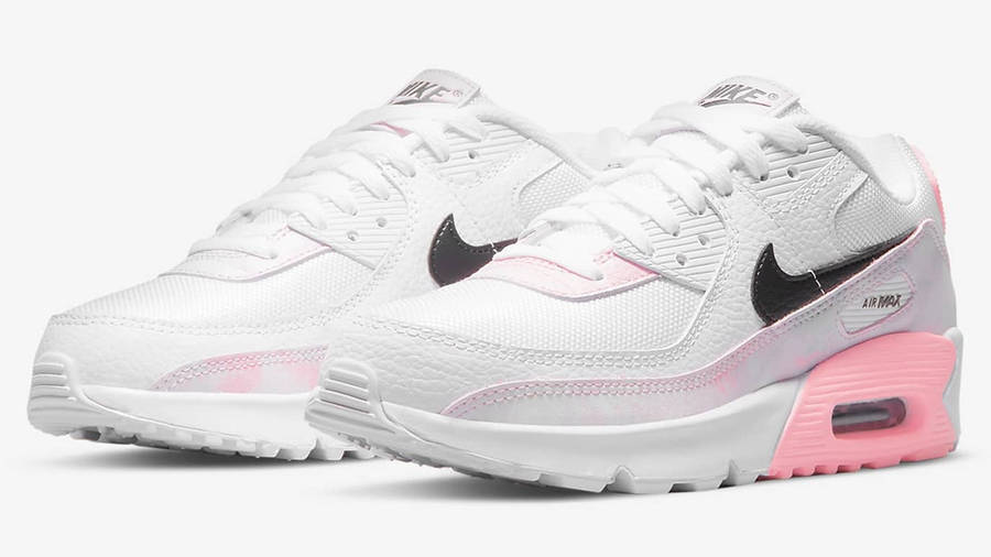Nike Air Max 90 GS White Pink | Where To Buy | DM3110-100 | poler ...