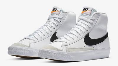 Nike Blazer Mid 77 GS White Team Orange DA4086-100 Side