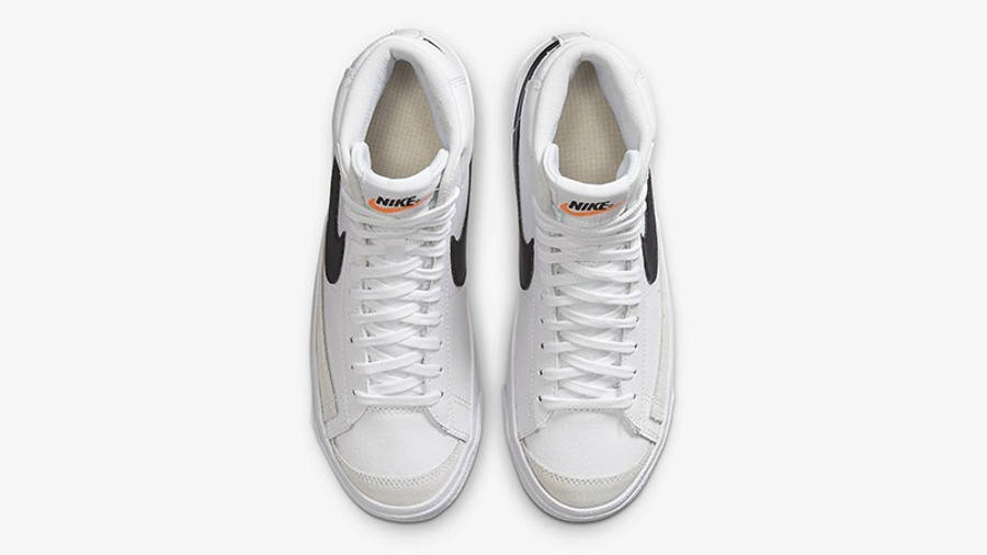 Nike Blazer Mid 77 GS White Team Orange DA4086-100 Top