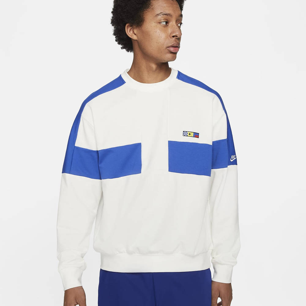 Predownload: Nike Sportswear Reissue French Terry Crew Sweatshirt Sail Spartanova [ 1000 x 1000 Pixel ]