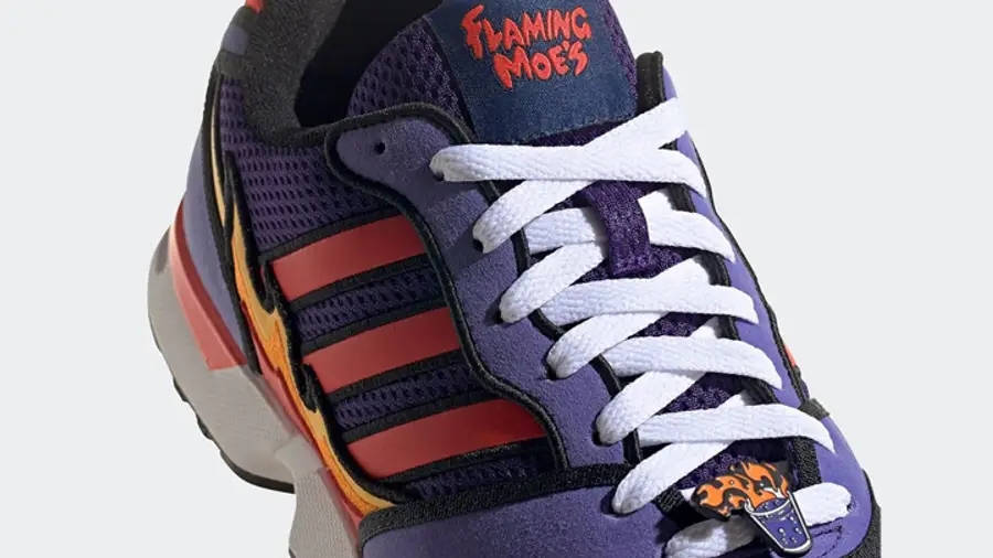 The Simpsons x adidas ZX 1000 Flaming Moes H05790 Detail