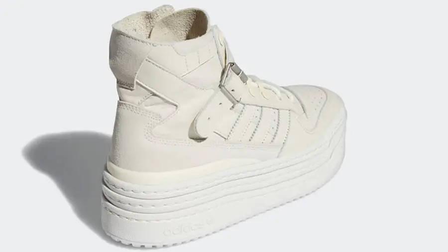 adidas Triple PlatForum Hi Off White S42803 Back