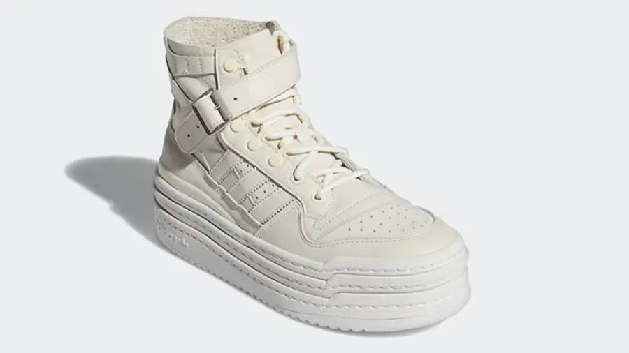 adidas Triple PlatForum Hi Off White S42803 Side