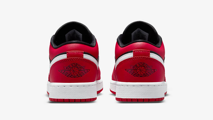 Air Jordan 1 Low GS Black Very Berry 553560-061 Back