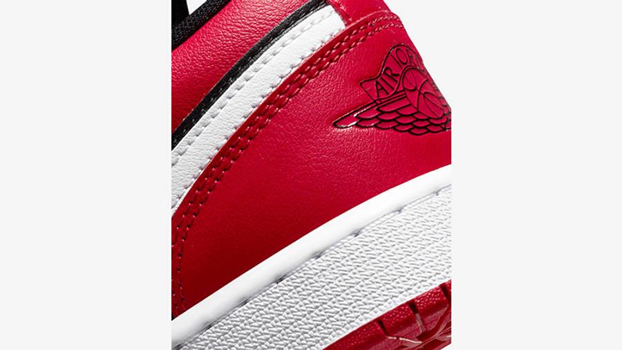 Air Jordan 1 Low GS Black Very Berry 553560-061 Detail 2