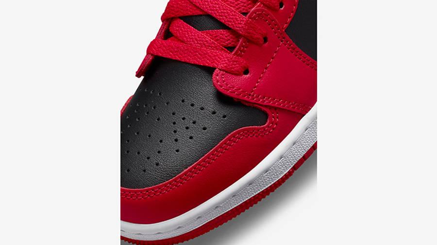 Air Jordan 1 Low GS Black Very Berry 553560-061 Detail