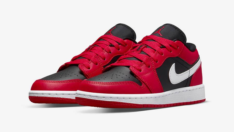 Air Jordan 1 Low GS Black Very Berry 553560-061 Side
