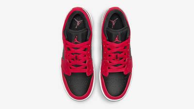 Air Jordan 1 Low GS Black Very Berry 553560-061 Top