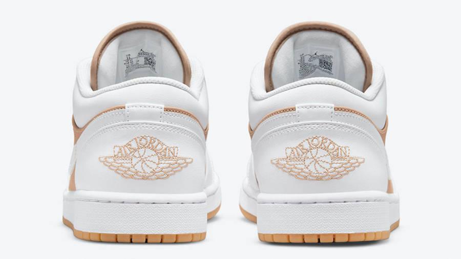 Air Jordan 1 Low Tan White Back