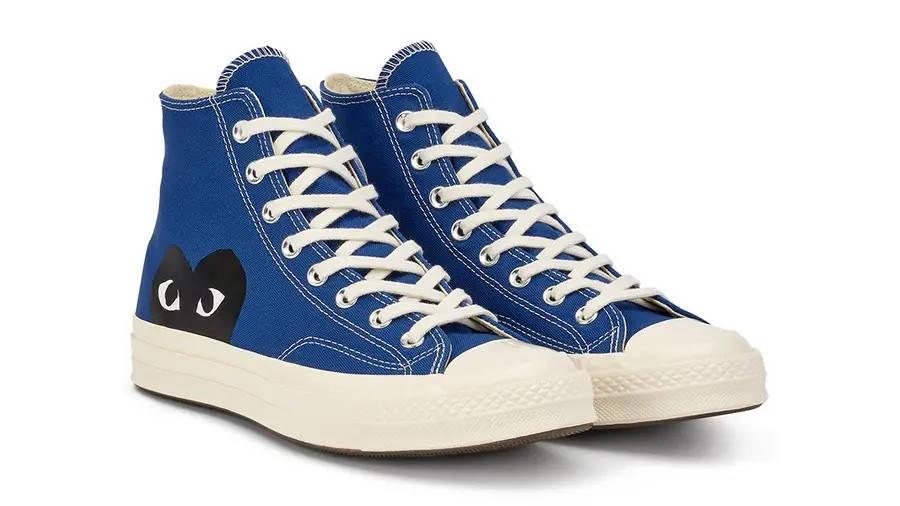 Comme des Garcons Play x Converse Chuck 70 Hi Blue Quartz 171846C Side