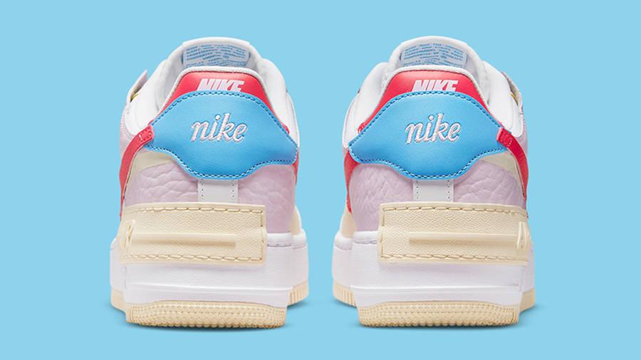 Nike cheap boys size 7 lebron shoes Shadow Pink Yellow DN5055-600 Back