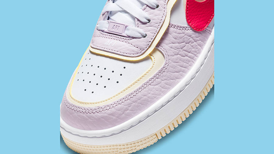 nike air force 1 shadow pink yellow dn5055 600 front detail w900