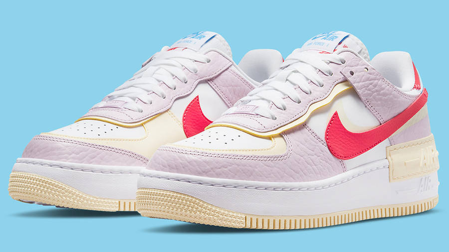 nike air force 1 shadow pink yellow dn5055 600 side w900