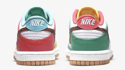 Nike Dunk Low Free 99 GS Asymmetric Multi CZ2496-100 Back