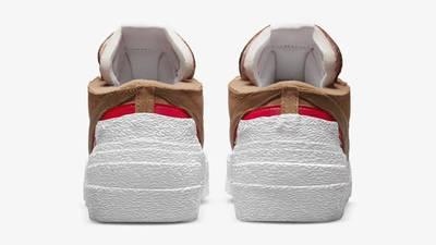 sacai x Nike Blazer Low British Tan Back