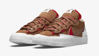 sacai x Nike Blazer Low British Tan Side