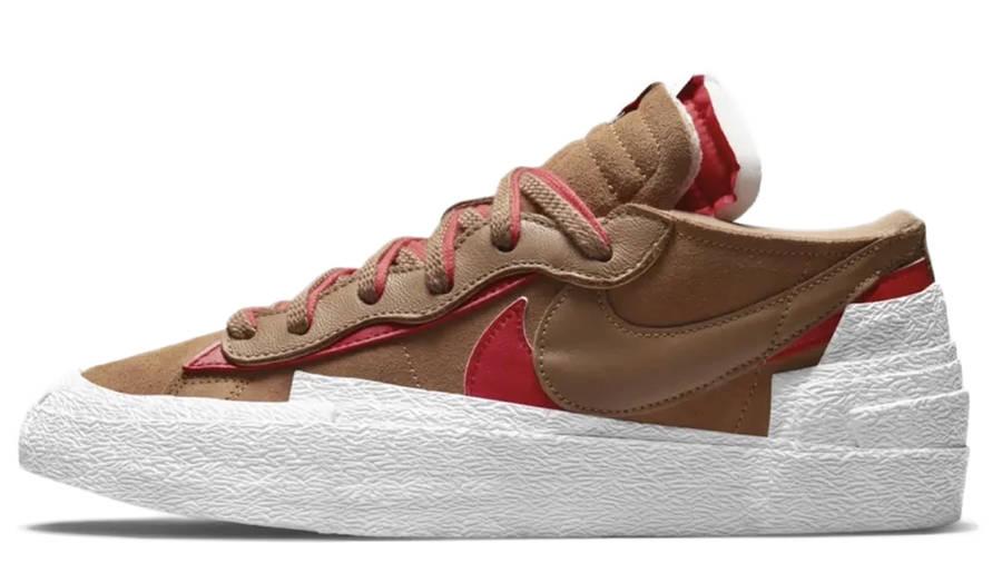sacai x Nike Blazer Low British Tan