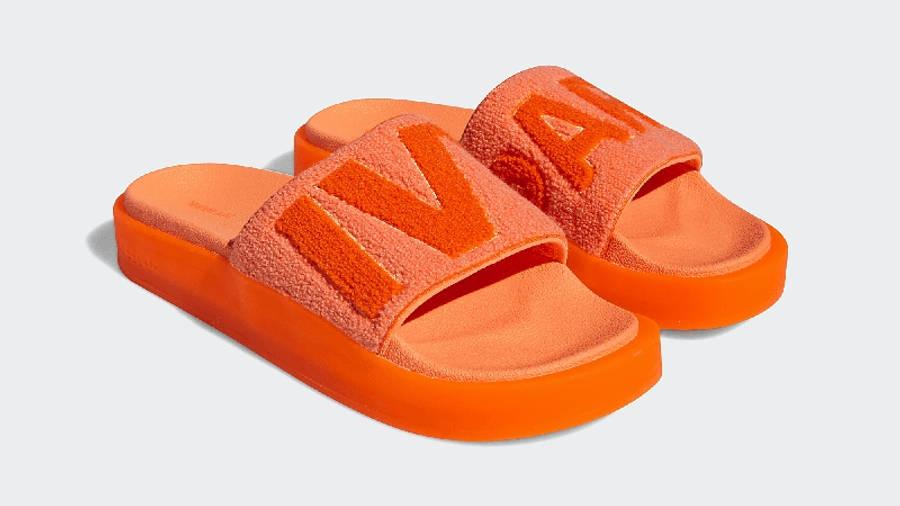 adidas x IVY PARK Slides Solar Orange GX1196 Side
