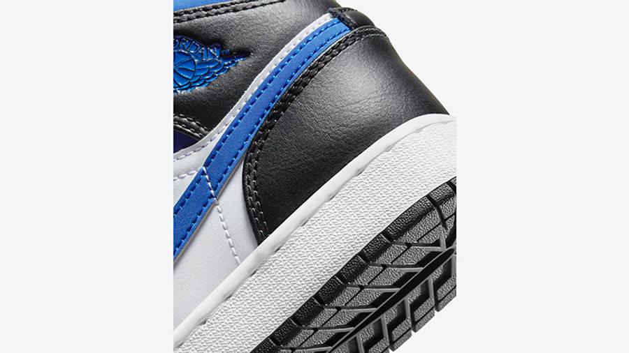Air Jordan 1 Mid GS Black Racer Blue 554725-140 Detail 2