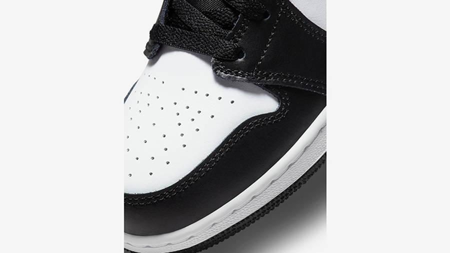 Air Jordan 1 Mid GS Black Racer Blue 554725-140 Detail
