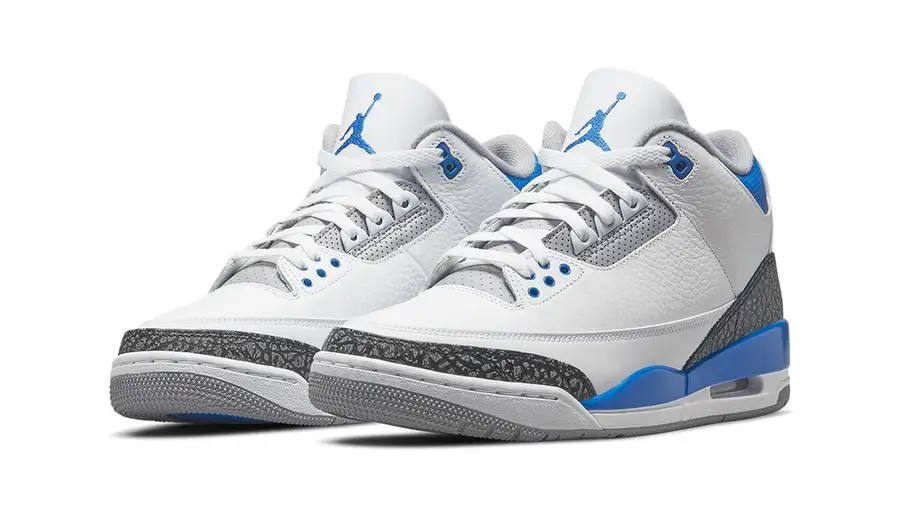 Air Jordan 3 Racer Blue 398614-145 Side