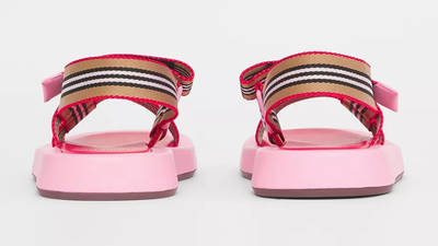 Burberry Icon Stripe Strap Leather Sandals Candy Pink 80426751 Back