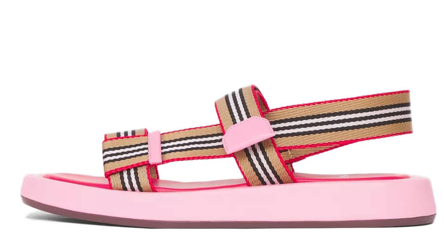Burberry Icon Stripe Strap Leather Sandals Candy Pink 80426751