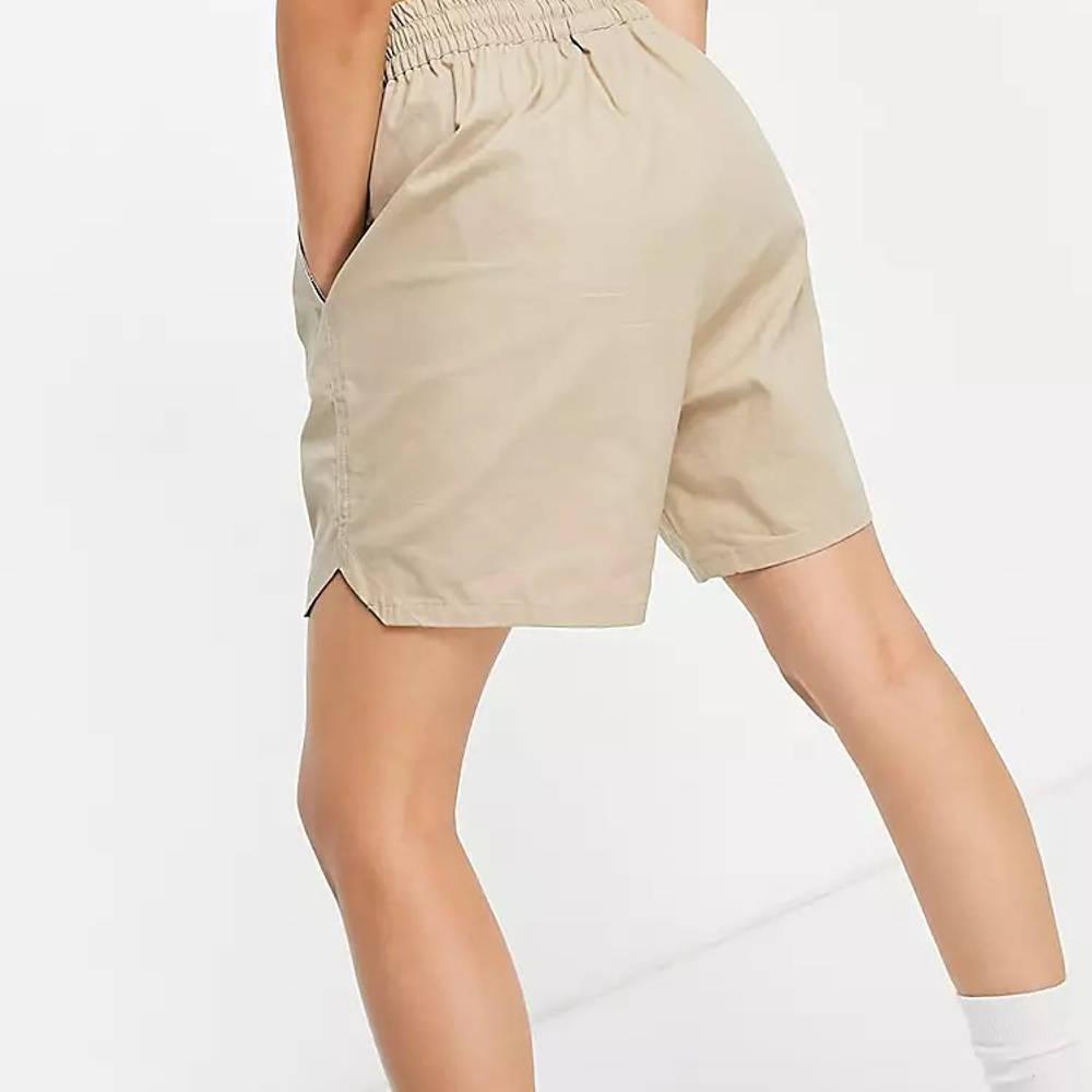 COLLUSION Nylon Shorts Beige Back