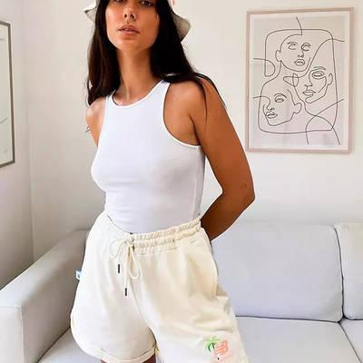 New Balance Palm Tree Boxer Shorts Cream