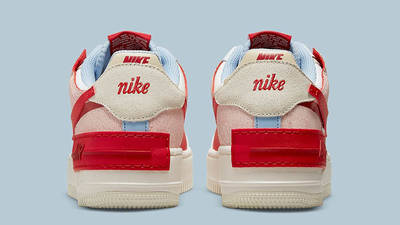 Nike air force 1 womens shoe Shadow White Red Beige CI0919-108 Back
