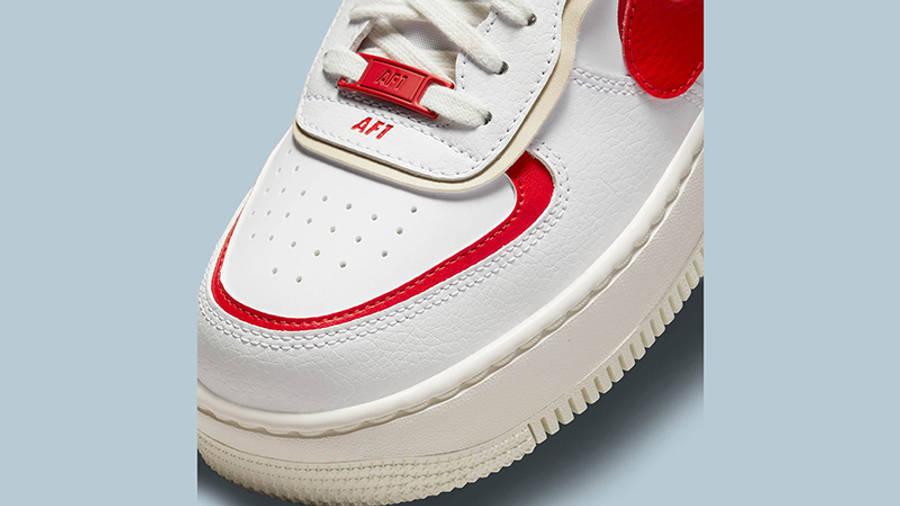 Nike air force 1 womens shoe Shadow White Red Beige CI0919-108 Detail 2