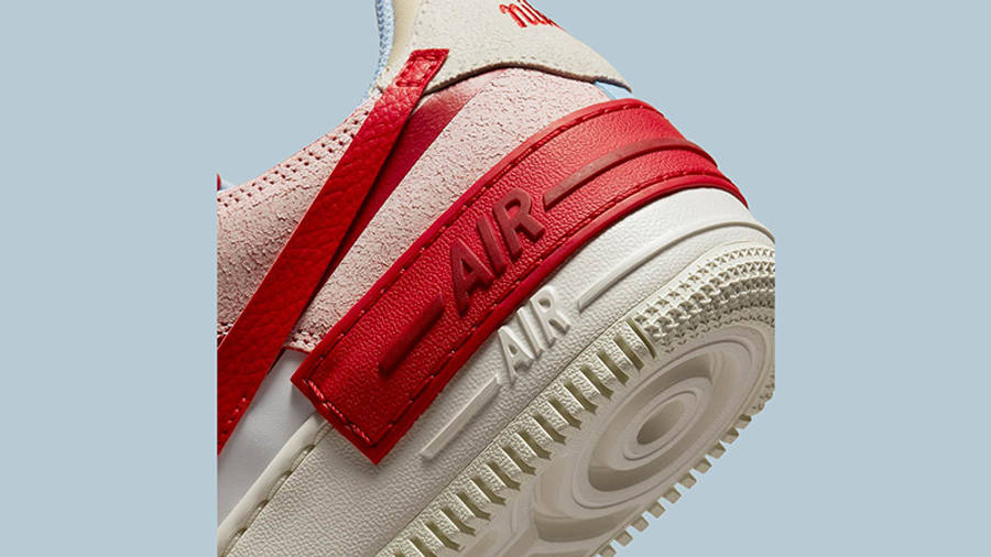 Nike air force 1 womens shoe Shadow White Red Beige CI0919-108 Detail