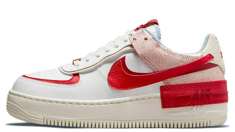 Nike air force 1 womens shoe Shadow White Red Beige CI0919-108