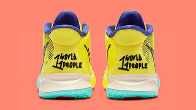 Nike Kyrie 7 GS 1 World 1 People Yellow CT4080-700 Back