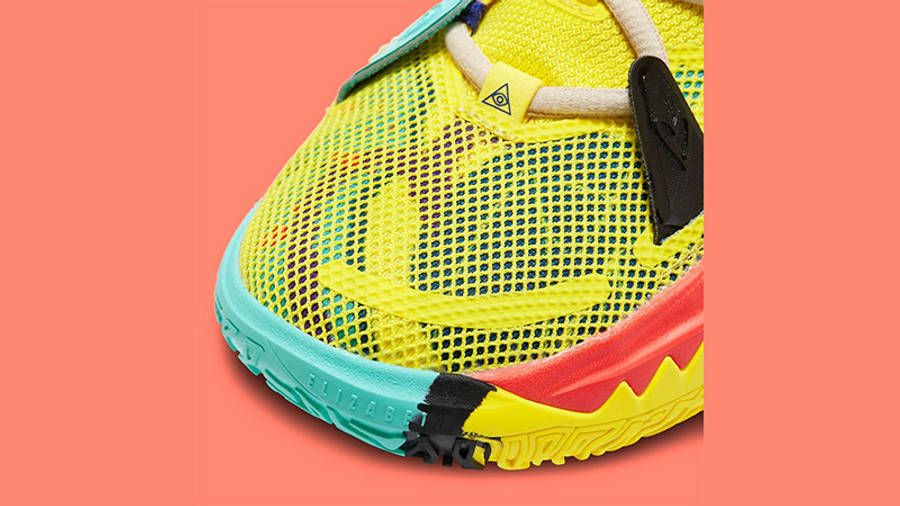 Nike Kyrie 7 GS 1 World 1 People Yellow CT4080-700 Detail 2