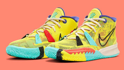 Nike Kyrie 7 GS 1 World 1 People Yellow CT4080-700 Side