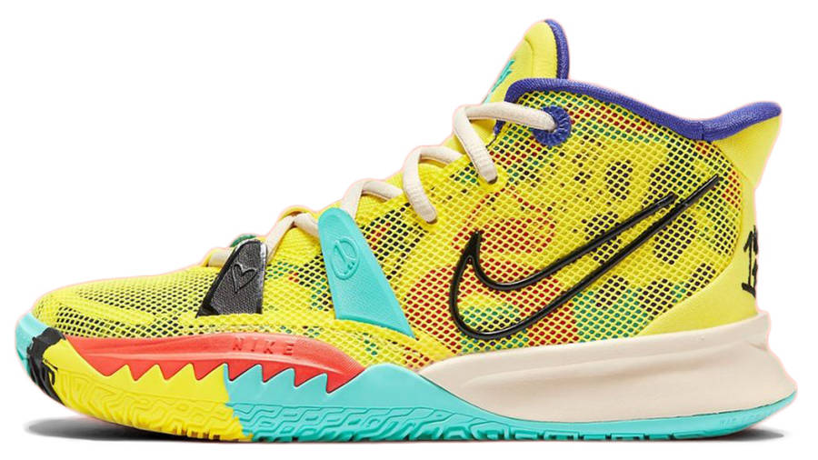 Nike Kyrie 7 GS 1 World 1 People Yellow CT4080-700