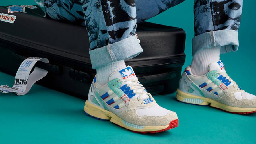 Offspring x adidas ZX 9000 London on foot