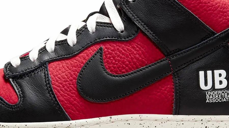 UNDERCOVER x Nike Dunk High UBA DD9401-600 Detail