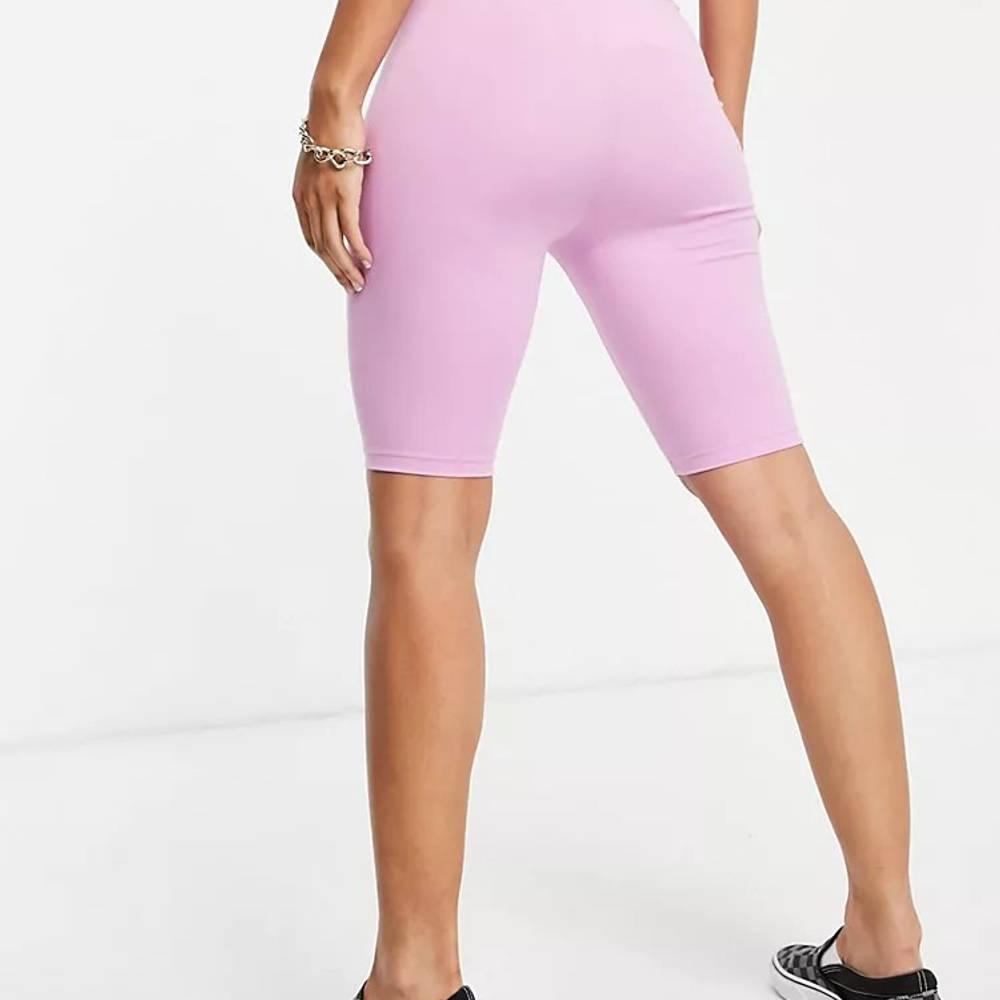 Vans Logo Legging Shorts Pink Back