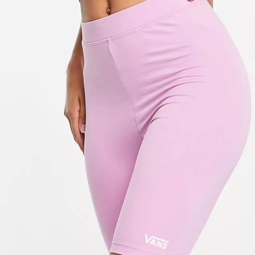 Vans Logo Legging Shorts Pink Detail